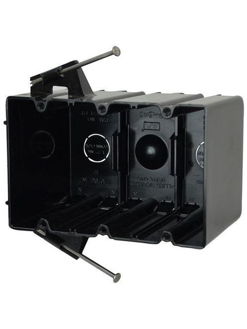 Allied Moulded Products P-643 3-9/16 x 5-13/16 x 3-3/4 Inch 64 In 3-Gang Polycarbonate Switch/Receptacle Outlet Box