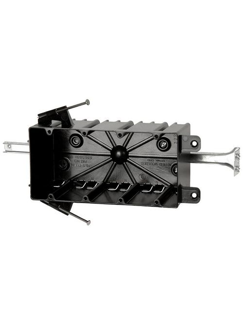 Allied Moulded Products P-764B 3-1/4 x 7-5/8 x 3-3/4 Inch 74.8 In 4-Gang Angled Nail Switch/Receptacle Outlet Box