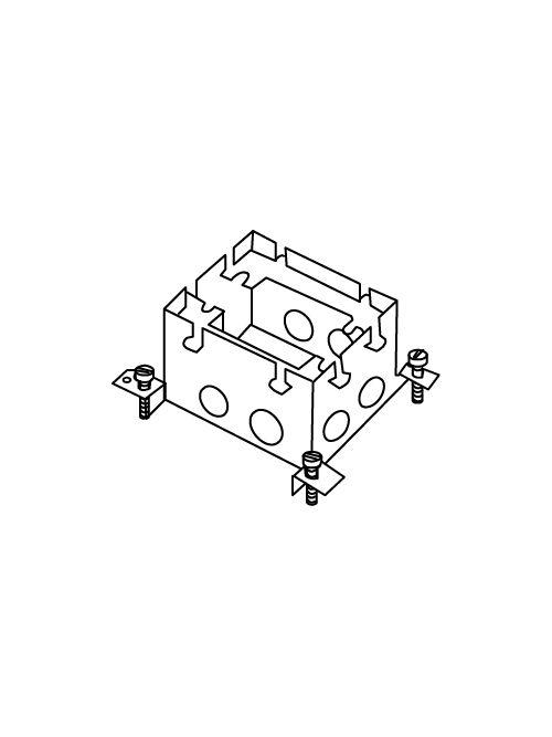 "Wiremold 880S1 1/2 x 3/4 x 1"" 53"" 1-Gang Stamped Steel Floor Box"