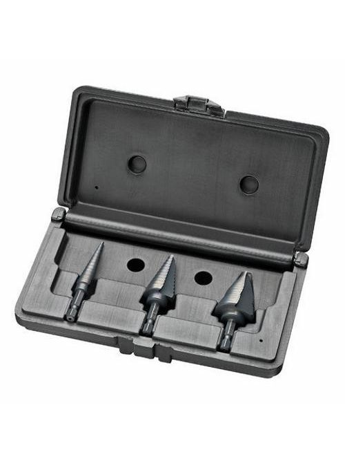 Ideal Industries 35-524 1/8 x 1-1/8 Inch Tempered High Speed Tool Steel Split Point Quick Change Step Drill Bit Kit