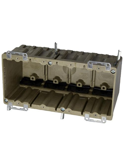 Allied Moulded Products 9314-EWK 3-9/16 x 7-11/16 x 3-23/32 Inch 70 In 4-Gang Fiberglass Switch/Receptacle Outlet Box