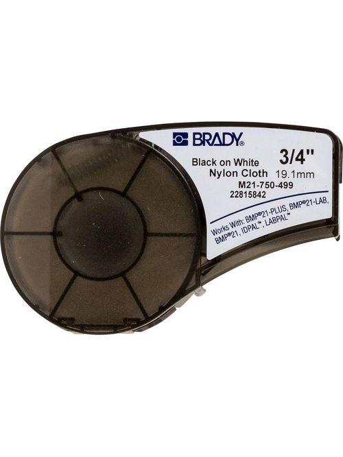 Brady M21-750-499 16 Foot Roll 0.75 Inch x 16 Foot Nylon Cloth White Wire Marker Label Roll
