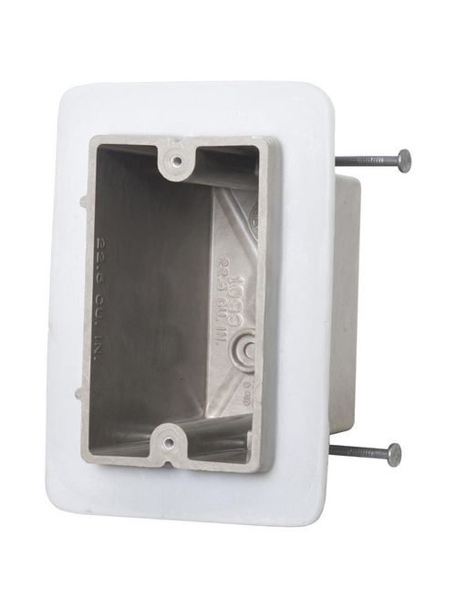 Allied Moulded Products 1099-NV 3-9/16 x 2-1/4 x 3-3/4 Inch 22.5 In 1-Gang Fiberglass Switch/Receptacle Outlet Box