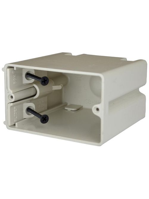 Allied Moulded Products SB-1H 3-9/16 x 3-3/4 x 2-1/4 Inch 23 In 1-Gang Steel Stud/Wood Screw Switch/Receptacle Outlet Box