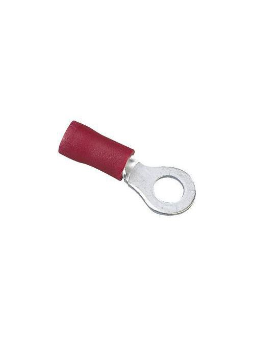 Ideal Industries 83-2151 600 Volt 22 to 18 AWG Red Tinned Brass Vinyl Insulated Beveled Funnel Entry Ring Terminal