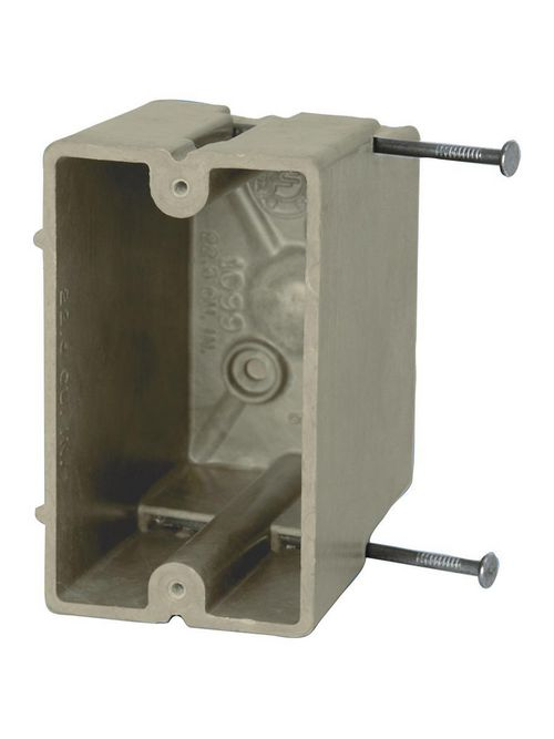 Allied Moulded Products 1099-N 3-9/16 x 2-1/4 x 3-3/4 Inch 22.5 In 1-Gang Fiberglass Switch/Receptacle Outlet Box
