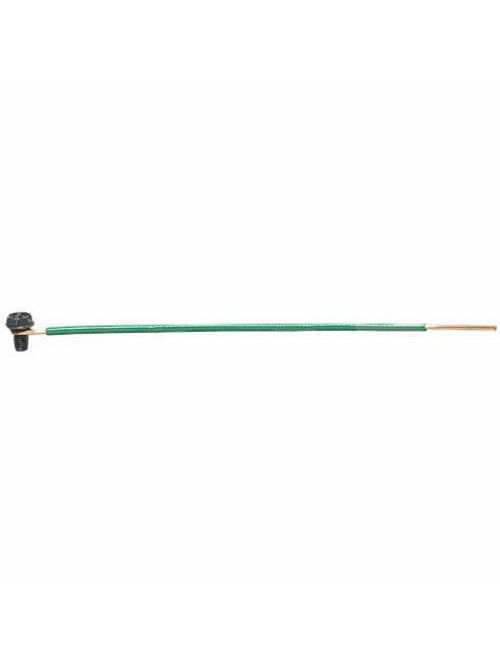 Ideal Industries 30-3496 12 AWG Solid 8 Inch Stripped End Loop and Grounding Screw Pigtail Connector