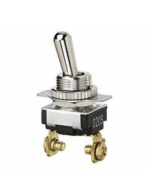 Ideal 774017 3/6 Amp 120/240 VAC SPST On-Off Screw Terminal Bat Toggle Switch
