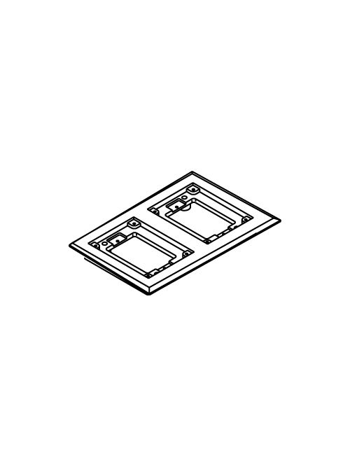 "Wiremold 827C 5-3/4 x 8-7/8"" 2-Gang Brass Floor Box Carpet Flange"