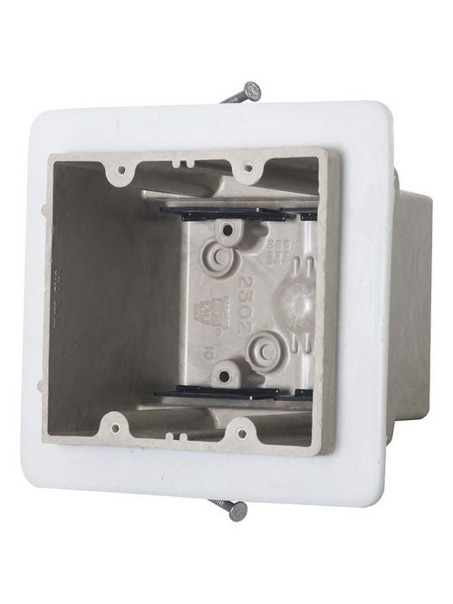 Allied Moulded Products 2302-NKV 3-7/16 x 4 x 3-3/4 Inch 37 In 2-Gang Angled Mid-Nail Switch/Receptacle Outlet Box
