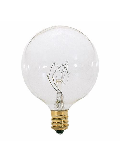 SATCO S3831 60 W 120 Volt 672 Lumen Clear E12 Candelabra Base G16 1/2 Decorative Incandescent Lamp