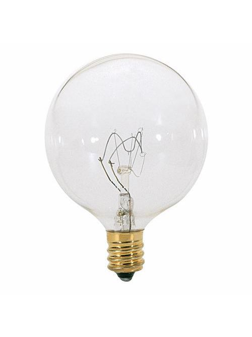 SATCO S3822 25 W 120 Volt 232 Lumen Clear E12 Candelabra Base G16 1/2 Decorative Incandescent Lamp