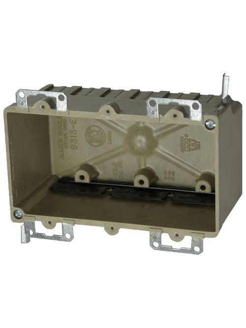 Allied Moulded Products 9313-EWK 2-7/8 x 5-15/16 x 3-1/4 Inch 42.5 In 3-Gang Switch/Receptacle Outlet Box