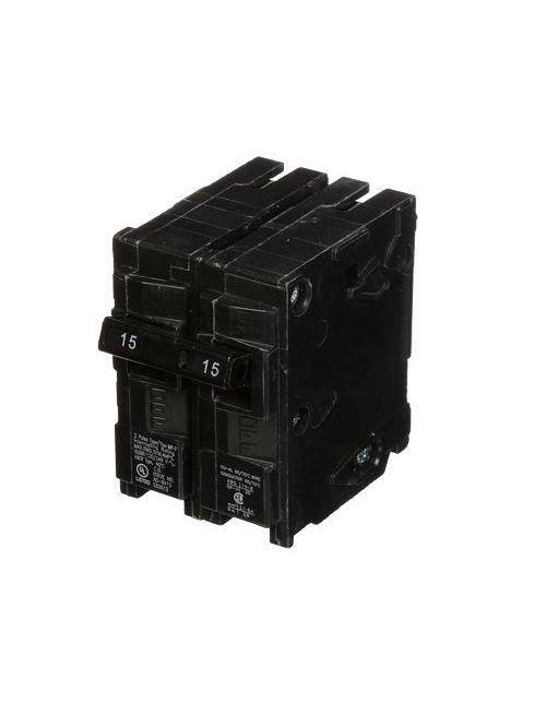 Siemens MP215 2-Pole 120/240 VAC 15 Amp 10 kA Plug-In Common Trip Circuit Breaker