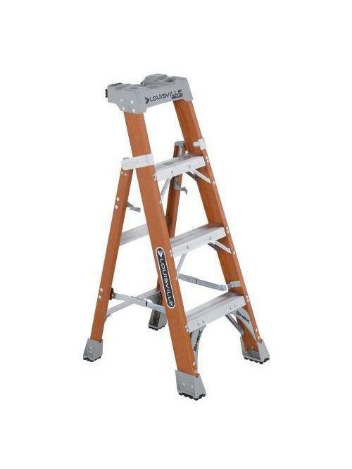 Louisville Ladder FXS1508 8 Foot Orange Fiberglass Step/Shelf Ladder