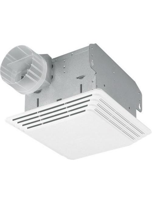 """Broan 684 0.5 Amp 120 Volt 80 CFM 2.5 Sones 48 W 1280 RPM 10-5/8 x 11-1/8"""" White Polymeric Grille Ceiling/Wall Fan"""