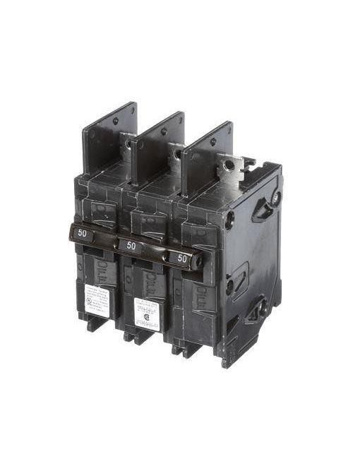 Siemens Industry BQ3B050H 240 Volt 50 Amp 22 kaic 3-Pole Type BQH Circuit Breaker