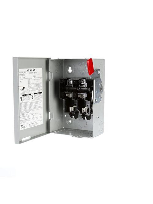 Siemens Industry GF221NRU 240 VAC 30 Amp 2-Pole 3-Wire NEMA 3R General Duty Fusible Safety Switch