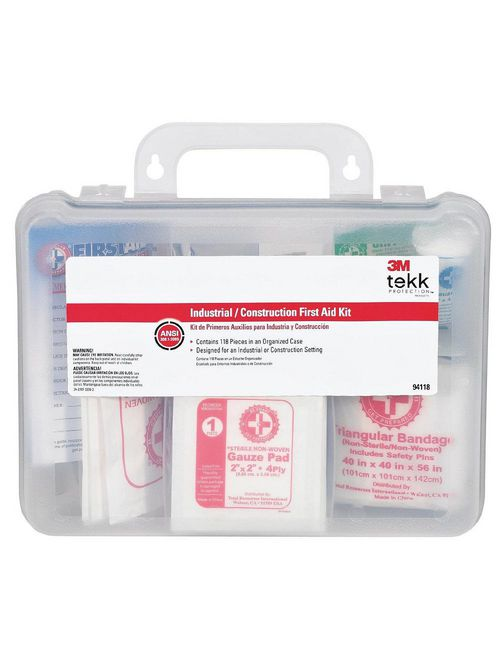 3M 94118-80025T Tekk 118-Piece Protection Construction/Industrial First Aid Kit