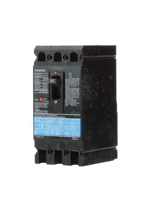 Siemens Industry ED63B030L 3-Pole 30 Amp 600 Volt 18 kA Circuit Breaker Lugs