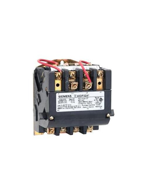 Siemens Industry 40DP12BF 3 Hp 1-Phase 120 VAC Size 1 Heavy Duty NEMA Magnetic Contactor