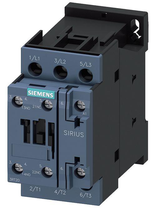 Siemens Industry 3RT20261AK60 110 VAC 50 Hz/120 VAC 60 Hz 25 Amp 3-Pole 1NO 1NC Screw Terminal IEC Contactor