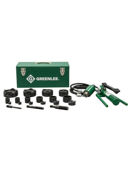 Greenlee 7610SB 1/2 x 4 Inch Hydraulic Knockout Punch Driver Kit