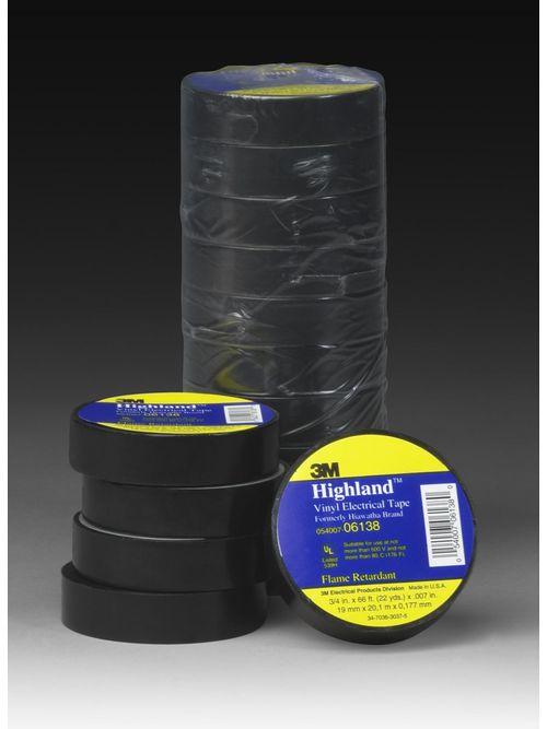 3M Highland-3/4x66FT 1.5in CORE Vinyl Tape