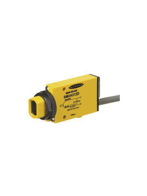 Banner Engineering SM2A312D Mini-Beam 2 M Cable Photoelectric Sensor