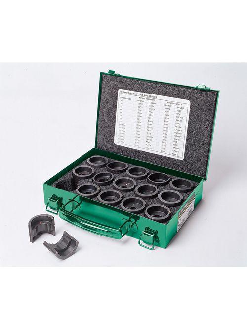 Greenlee KD12CU 6 AWG to 750 MCM Copper U Style Crimping Tool Die Kit