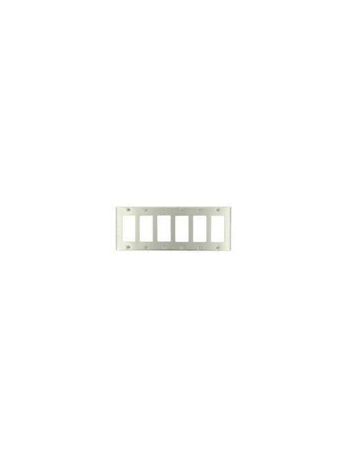 Leviton 84436-40 6-Gang Decora/GFCI Device Mount Standard Size 302 Stainless Steel Decora Wallplate