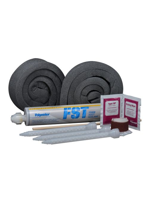 American Polywater FST-250KIT1 8.5 oz 24 Inch Foam Damming Strips Duct Sealant Kit