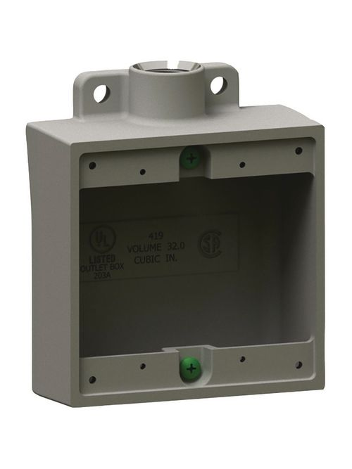 Hubbell Electrical Systems 2FS-1M 1/2 Inch 2-Gang Iron Type 2FS Shallow Cast Device Box with Mounting Lug