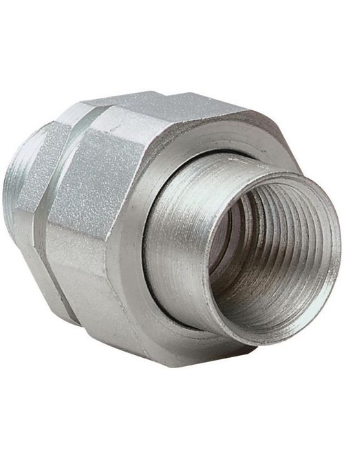Hubbell Electrical Systems UNY1 1/2 Inch Zinc Plated Steel Male to Female Conduit Union