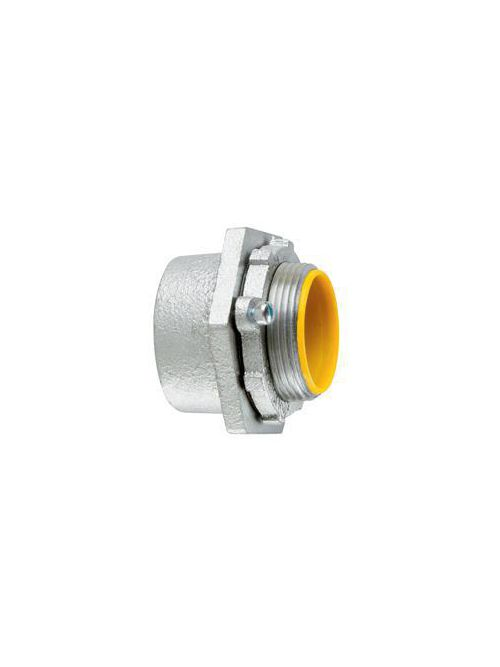 Crouse-Hinds Series MHUB6 HDG 2 Inch Hot Dip Galvanized Malleable Iron Conduit Hub