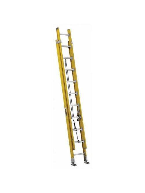 Louisville Ladder FE4220HD 20 Foot 375 lb Duty Rating Fiberglass Extension Ladder