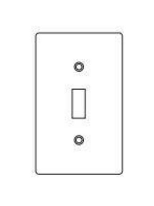 Hubbell Electrical Systems 1FT 1-Gang Stamped Aluminum Toggle Switch Cover