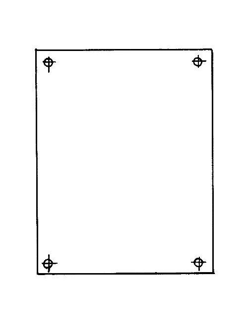 Carlon JP86 6.75 x 4.87 Inch 14 Gauge White Back Panel