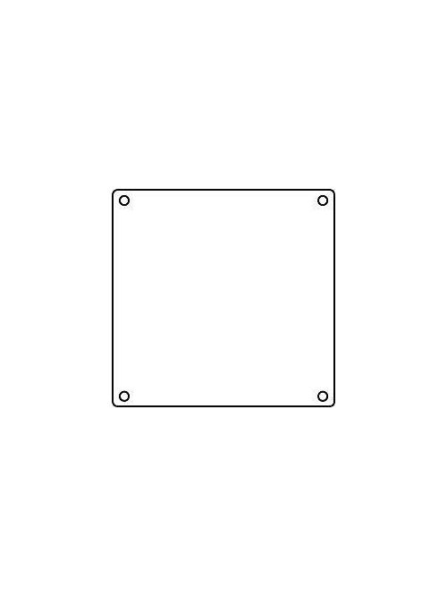 Hubbell Electrical Systems 2FSBC 2-Gang Blank Cover