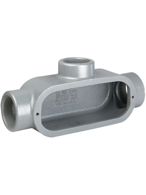 Hubbell Electrical Systems T38 1 Inch Gray Iron Type T Conduit Body
