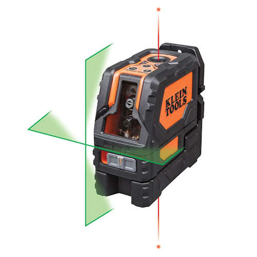 Klein 93LCLG Laser Level, Self-Leveling Green Cross-Line and Red Plumb Spot