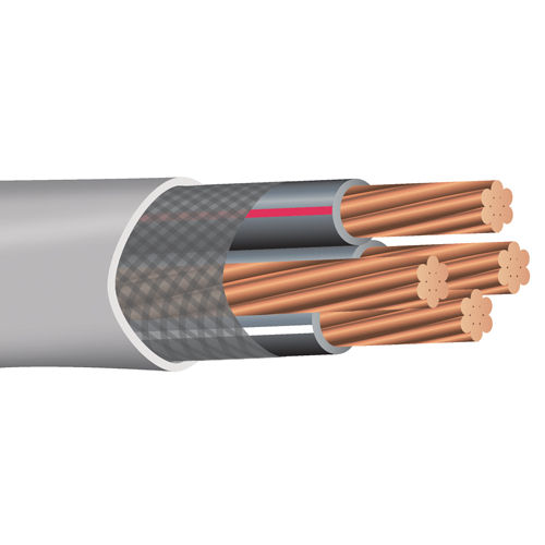 Southwire 27083501 (3) 2/0 AWG Conductor 1 AWG Ground 1142 Mil 500 Foot 600 Volt Copper/PVC SER Service Entrance Cable