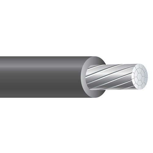 Southwire 27285601 2/0 AWG 18-Strand 1000 Foot 600 Volt 115/135/150 Amp Black Underground RHH-RHW-2 Service Entrance Cable