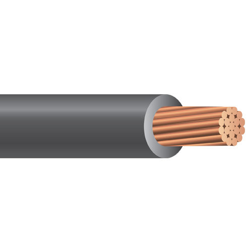 Southwire 11350605 1 AWG 19-Strand 500 Foot 600 Volt Black Copper/Cross-Linked Polyethylene RHH-RHW-2 Service Entrance Cable